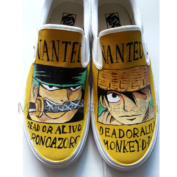 125108d46a One Piece Anime Shoes Zoro Canvas Sneakers Luffy Fashion Sneaker Anime Hand  Painted Shoes for Women