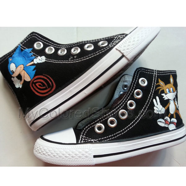 5fbf5ae9fec1d Sonic and Tails Anime Painted Shoes Hand Painting Shoes Custom Shoes Best  Presents for Men Women
