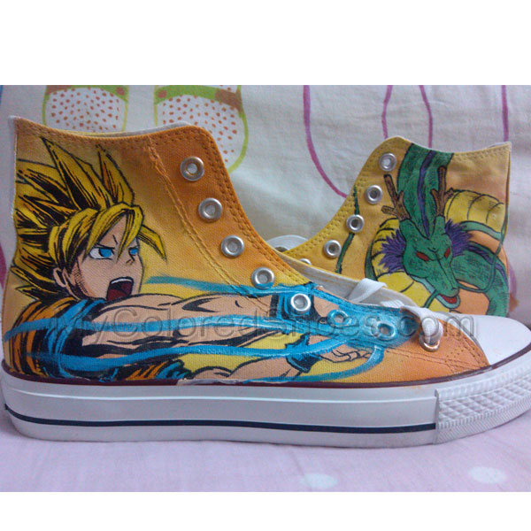 608a149f0ef3 Dragon Ball Z Hand Painted Canvas Shoes Custom Shoes High Top Sh ...
