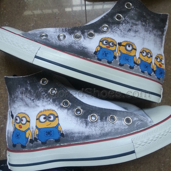 97411eb052 Despicable Me Minion Custom Canvas Shoes  140321-1  -  59.99   Hand ...