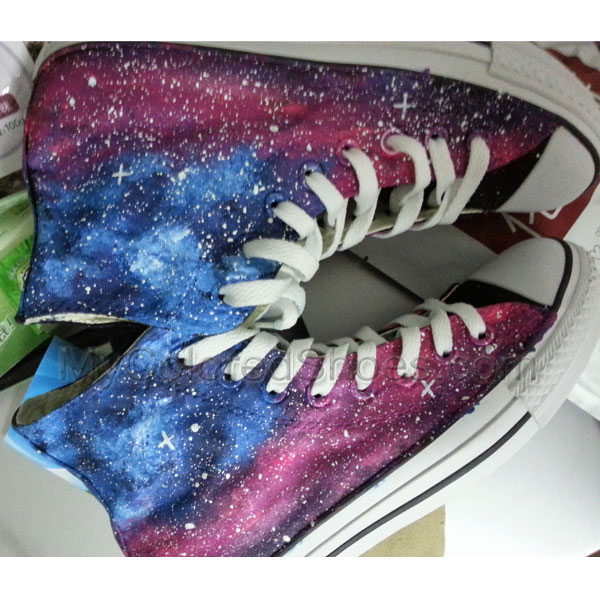 f37fe7dfa479 Galaxy Shoes Canvas Shoes Hand-Painted Shoes Custom Canvas Shoes ...