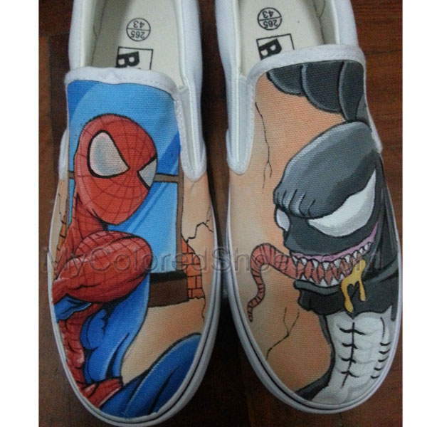 69d4c1c525ee2e Handpainted Spider-Man Venom Canvas Sneaker Custom Hand Painted Presents  Unique Design