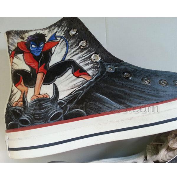 3dafcb4b02cf6 X-Men Nightcrawler Sneakers Custom Hand Painted Shoes for women/men ...