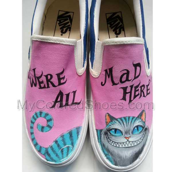 d88f4bccaa1ec1 Alice in Wonderland Cheshire Cat Custom Hand-Painted Shoes Unique Design Custom  Shoes Hand Painted