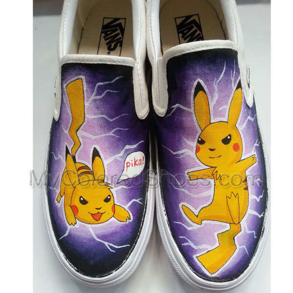 0ff1b47cf99392 Pokemon Pikachu Shoes Hand Paint Sneakers Custom Cartoon Shoes Unique  Birthday Gift or Christmas Gift Hand ...